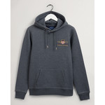 GANT Archive Shield hoodie antraciet