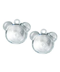 Acryl beer met oogje, l.blauw, 38 mm, doos à 4 st-