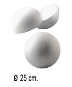 Piepschuim Bal Deelbaar 25cm