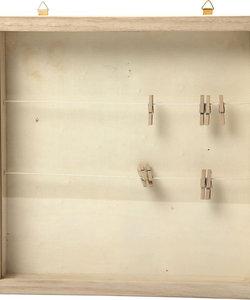 3D fotolijst 23x23 cm, diep 35 mm met ophanghaakjes  triplex