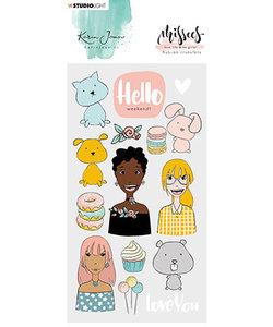 Studio Light Karin Joan Rub On Stickers Missees nr. 05