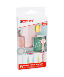 Edding 751 Glanslakmarker Set Pastels 5 st.