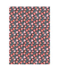 Vel Decopatch papier bloemenpatroon rood blauw grijs