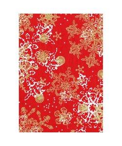 Vel Decopatch papier rood/goud Kerst