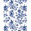 Decopatch Vel Decopatch papier bloemenprint blauw wit