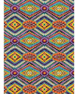 Vel Decopatch papier patroon oranje paars blauw geel