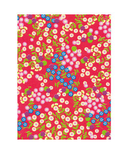 Vel Decopatch papier rood bloem patroon
