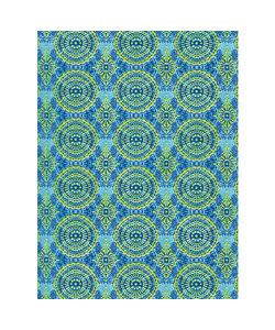 Vel Decopatch papier Patroon blauw/ groen