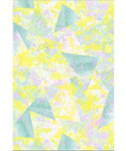Vel Decopatch papier geel/roze/groen vlakken ruitmotief