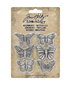 Tim Holtz Idea-Ology Adornments Butterfies 6 pcs.