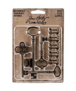 Tim Holtz Idea-Ology Adornments Keys 14 pcs.