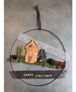 Knutselpakket krans Kerstkrans