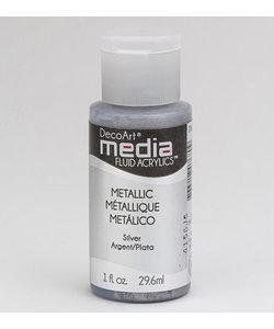 Deco Art Media Fluid Acrylics 29.6ml Metall Silver