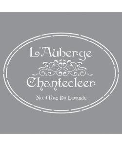 Americana Decor Stencil The French Inn