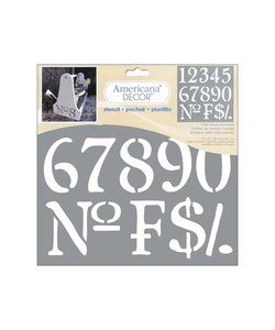 Americana Decor Stencil Old World Numbers