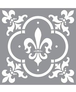 Americana Decor Stencil Fleur De Lis Tile