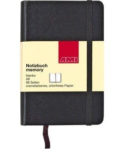 Ami Memory notitieboek blanco A5 zwart