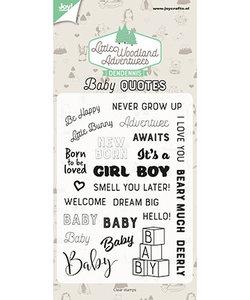 Joy Stempel Den Dennis  Little Woodland Aventures Baby Quotes