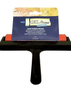 Gel Press Hard Rubber Brayer 15,24cm
