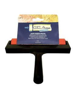 Gel Press Hard Rubber Brayer Black 15,24cm