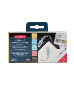 Derwent Metallic Paint Pan Set 12st