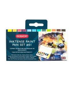 Derwent Inktense Paint Pan Set #01 12st