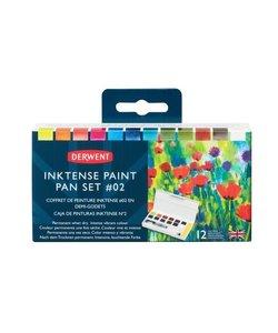 Derwent Inktense Paint Pan Set #02 12st