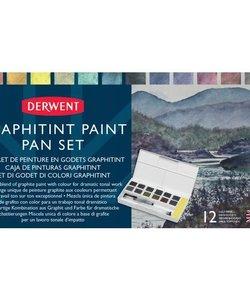 Derwent Paint Pan Travel set Graphitint 12 pcs.