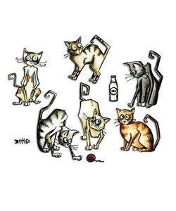 Sizzix Tim Holtz Framelits Dies Crazy Cats