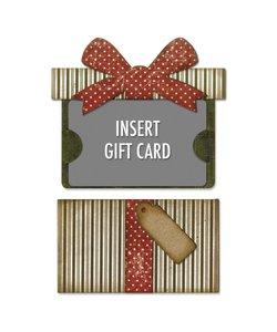 Sizzix Thinlits Die Set Tim Holtz Insert Gift Card