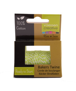 Bakers Twine touw 45m Groen-wit