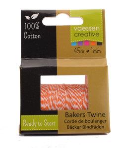 Bakers Twine touw 45m Oranje-wit