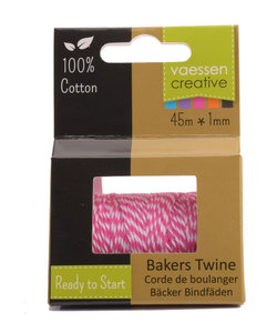 Bakers Twine touw 45m Rose-wit