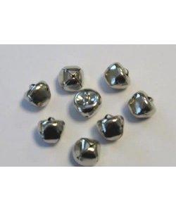 Bellen, 15 mm., zilverkleurig, 8 st.
