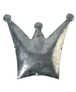 Blikken kroon, gebogen, 14x12 cm, met gat