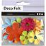 Creotime Bloemen van vilt diverse maten dikte 1,2 mm 16 st