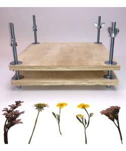 Bloemenpers 24 x 24 cm. multiplex