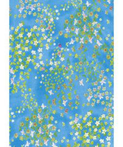 Vel Decopatch blauw turquoise bloem