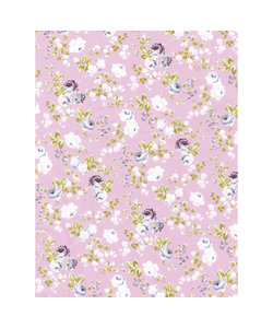 Vel Decopatch papier Rozenprint licht blauw/roze