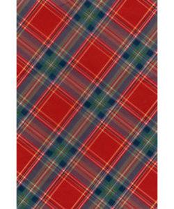Vel Decopatch papier Schotse ruit rood/groen/blauw