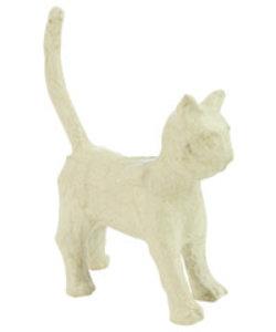 Decopatch papier mache kat staand 11x6x13cm.