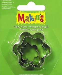 Makin's Clay Uitsteekvorm Set Bloem 2-4cm 3st