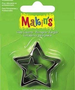 Makin's Clay Uitsteekvorm Set Ster 2-4cm 3st