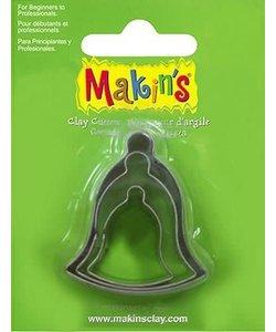 Makin's Clay Uitsteekvorm Set Kerstklok 2-4cm 3st