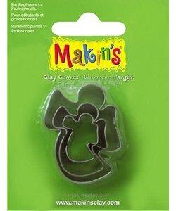 Makin's Clay Uitsteekvorm Set Engel 2-4cm 3st