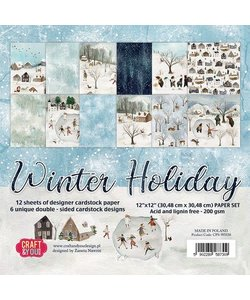 Craft&You Papier Set Winter Holiday 12x12'' 12st