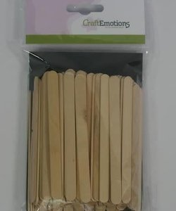 CraftEmotions Knutselhoutjes 1x11,4cm 100st