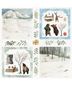 Craft&You Papier Winter Holiday 12x12'' nr. 08