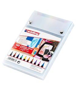 Edding 1340 Brush Pen Set Kleuren 10st