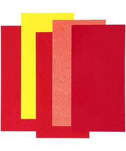 Color Dekor, rood/oranje/geel harmoniet 5 diverse vellen